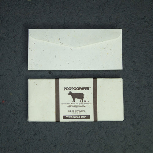 Cow POOPOOPAPER - No.10 Size Envelopes - (Set of 2 Packs - 24 Envelopes)