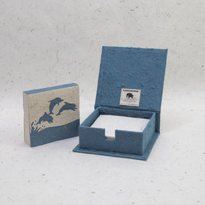 Sea Life Dolphin - Note Box and Scratch Pad Refill Set