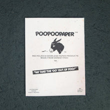 Load image into Gallery viewer, Donkey POOPOOPAPER - Letter Size  - A4 Paper (50 sheets)