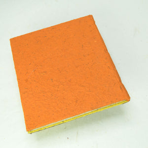 Eco-Friendly, Tree-Free POOPOOPAPER - Savannah Sunset Journal - Elephant - Orange - Back