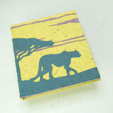 Load image into Gallery viewer, Eco-Friendly, Tree-Free POOPOOPAPER - Savannah Sunset Journal - Cheetah - Yellow - front