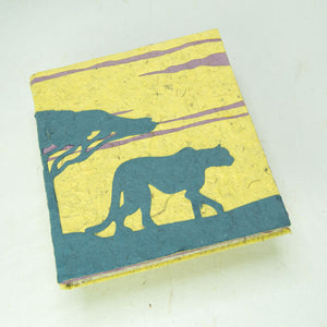 Eco-Friendly, Tree-Free POOPOOPAPER - Savannah Sunset Journal - Cheetah - Yellow - front
