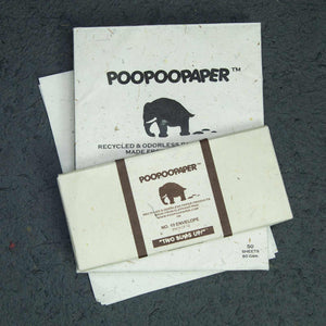 No. 10 Size Paper Sheets and Envelope Set made from Eco-Friendly, Sustainable Elephant POOPOOPAPER.