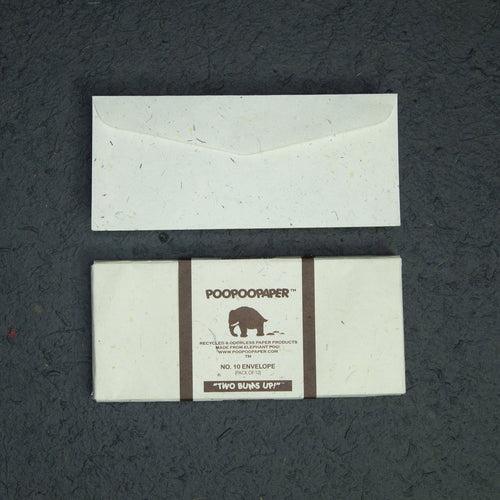 Elephant POOPOOPAPER - No.10 Size Envelopes - (Set of 2 Packs - 24 Envelope