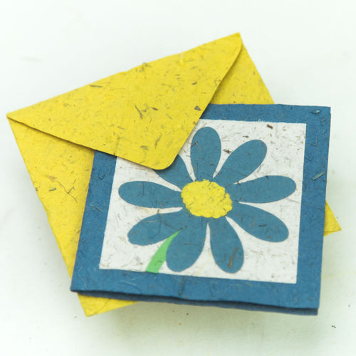 Flower Garden - Greeting Card - Single Blue Flower - (Set of 5)