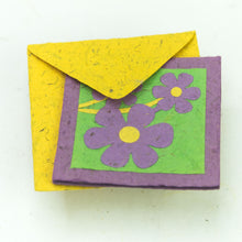 Load image into Gallery viewer, Flower Garden - Greeting Card - Three Purple Flowers -  (Set of 5)