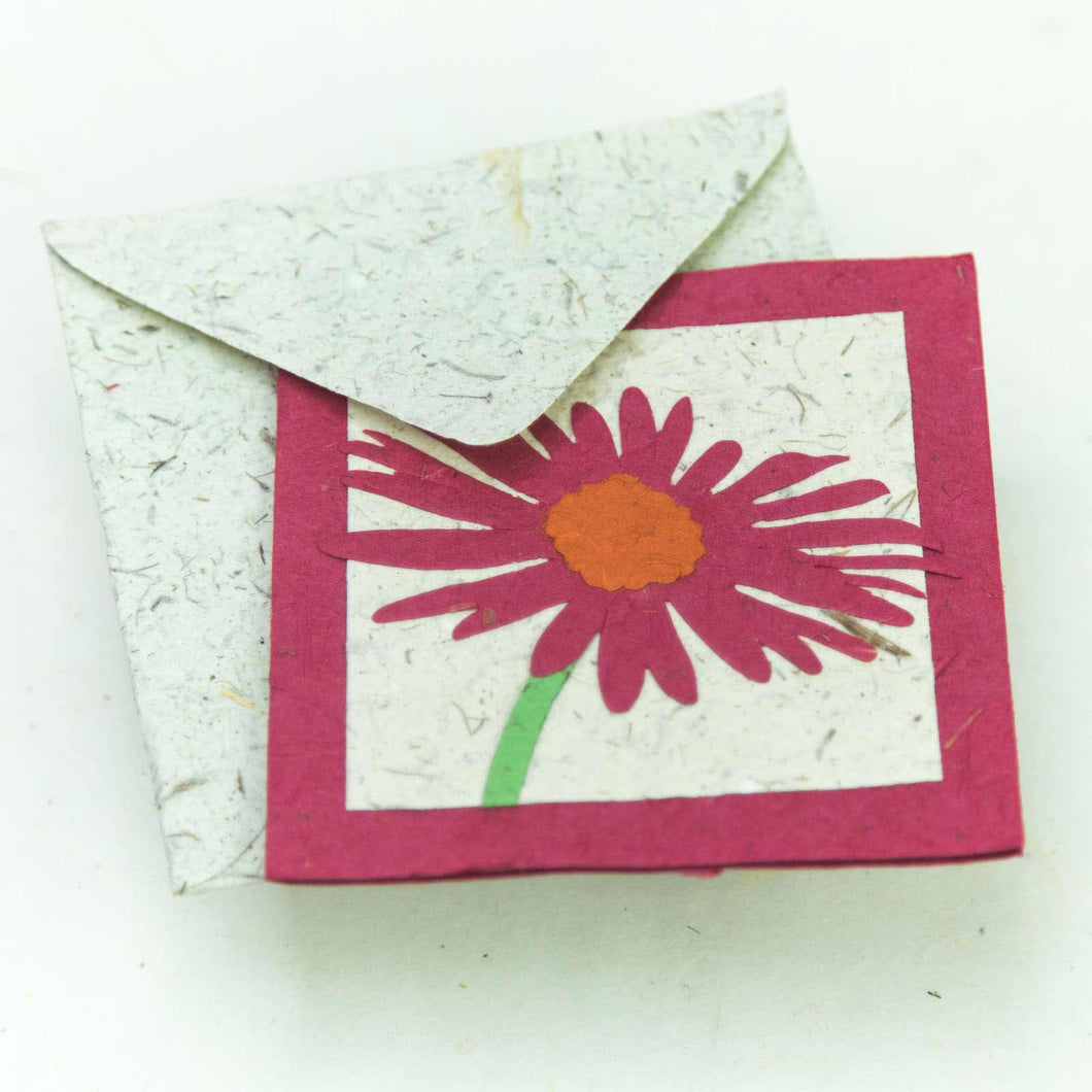Flower Garden - Greeting Card - Single Pink Flower