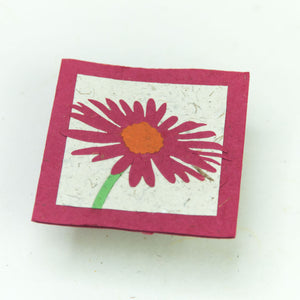 Flower Garden - Greeting Card - Single Pink Flower -  (Set of 5)