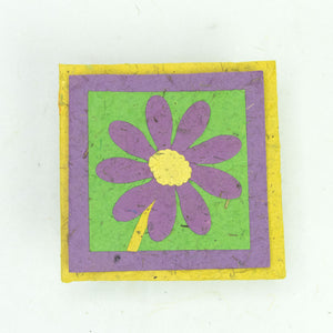 Flower Garden - Greeting Card - Single Purple Flower -  (Set of 5)