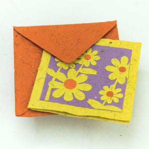 Flower Garden - Greeting Card - Yellow Bunch of Flowers - Front