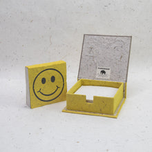 Load image into Gallery viewer, Pile-of-Smile - Eco-Friendly, Tree-Free Note Box and Scratch Pad Refill Set by POOPOOPAPER