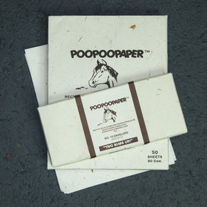Horse POOPOOPAPER - No.10 Size Envelopes & Letter Size Paper(50 sheets) Set