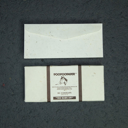 Horse POOPOOPAPER - No.10 Size Envelopes - (Set of 2 Packs - 24 Envelopes)