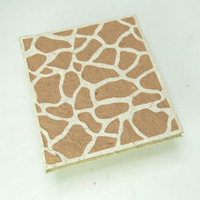 Load image into Gallery viewer, Eco-Friendly, Tree-Free, Sustainable, Organic Elephant POOPOOPAPER Journal with Giraffe design - Front