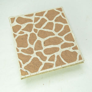 Eco-Friendly, Tree-Free, Sustainable, Organic Elephant POOPOOPAPER Journal with Giraffe design - Front