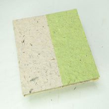 Load image into Gallery viewer, Eco-Friendly, Tree-Free, Sustainable, Elephant POOPOOPAPER Natural Two-Toned Journal - Grass