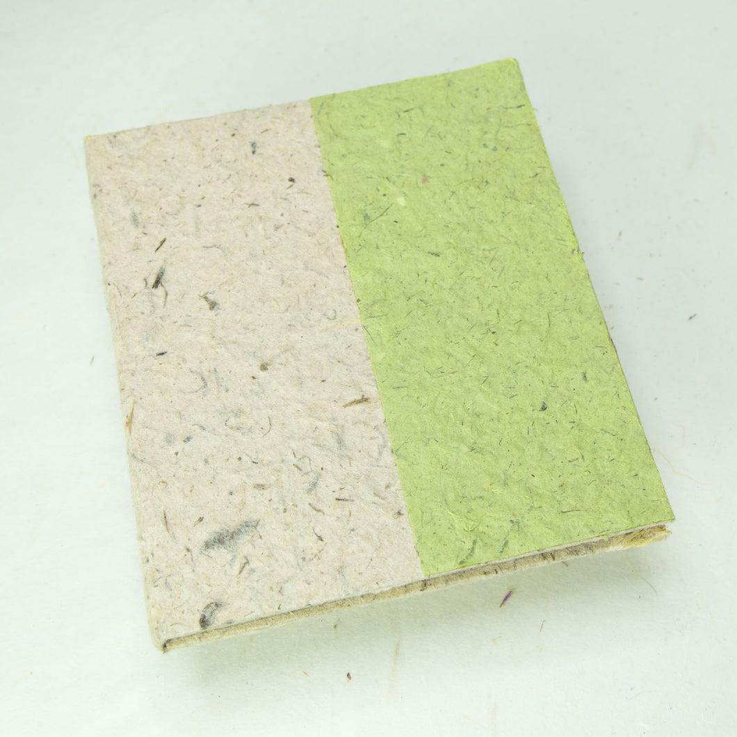 Eco-Friendly, Tree-Free, Sustainable, Elephant POOPOOPAPER Natural Two-Toned Journal - Grass