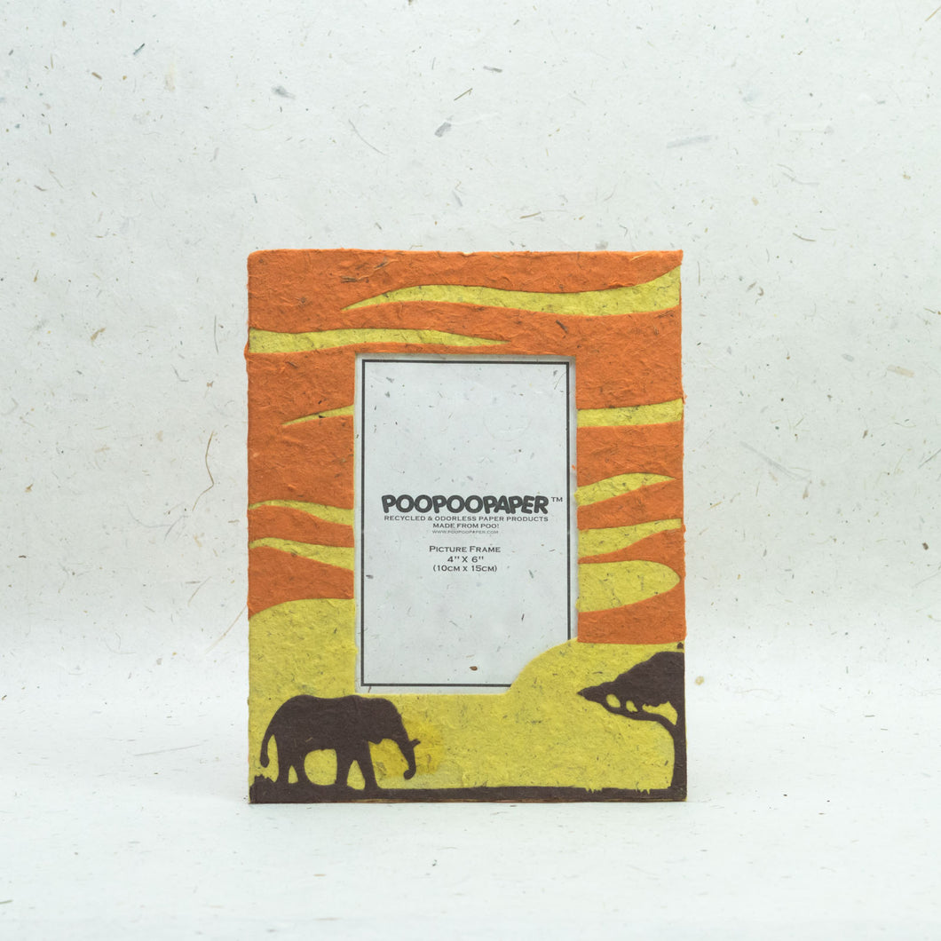 Savannah Sunset - Picture Frame - Elephant