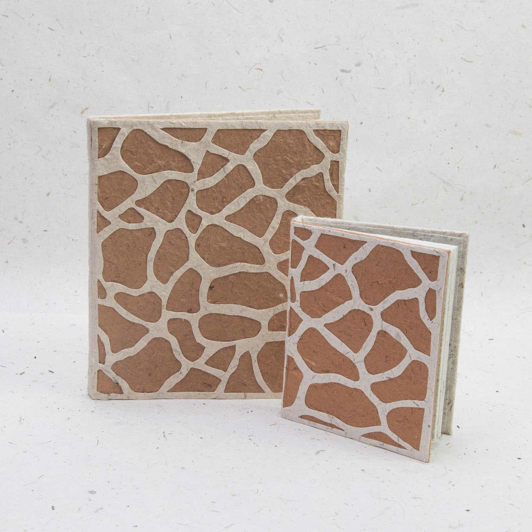 Jungle Safari - Giraffe Journal and Mini-Journal Set - Made from Elephant POOPOOPAPER