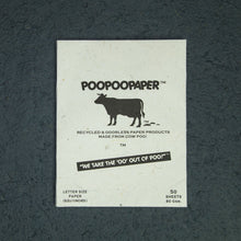 Load image into Gallery viewer, Eco-Friendly, Tree-Free, Letter Size Cow POOPOOPAPER - A4