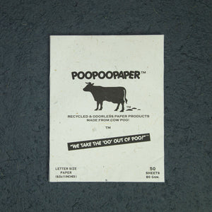 Eco-Friendly, Tree-Free, Letter Size Cow POOPOOPAPER - A4