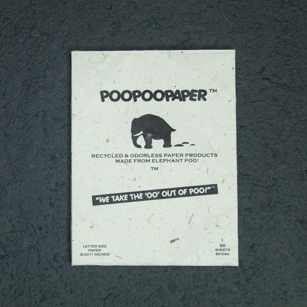 Eco-Friendly, Sustainable, Tree-Free, Letter Size Paper - A4  - Elephant POOPOOPAPER