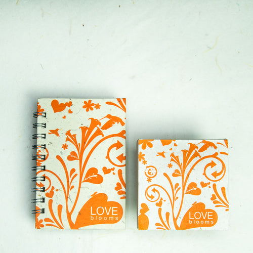 Inspirational POOPOOPAPER - Love - Journal and Scratch Pad Set