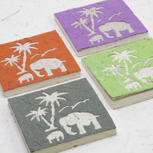 Load image into Gallery viewer, Assorted Gift-Pack of 25 Mini-Scratch Pads Elephant Mom & Baby with Palm Tree