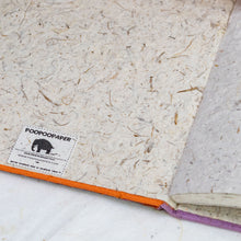 Load image into Gallery viewer, Inside Cover of POOPOOPAPER Handmade Elephant PaperJournal