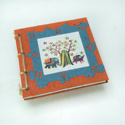 Twine Journal - Thailand Themed Batik Art Set - Orange