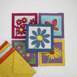 Custom Selected Set of POOPOOPAPER Flower Cards