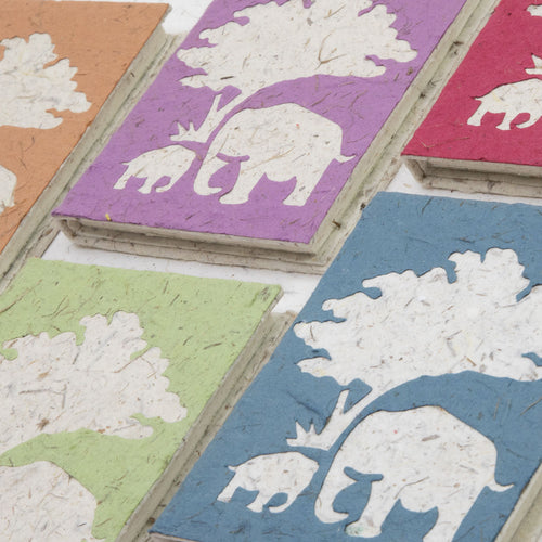 Classic Elephant POOPOOPAPER - Mom & Baby Journal - Assorted Set of 5