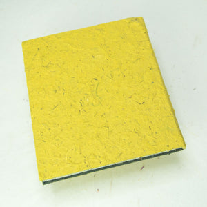 Eco-Friendly, Tree-Free POOPOOPAPER - Pile of Smile - Happy Face -  Yellow Journal - Back