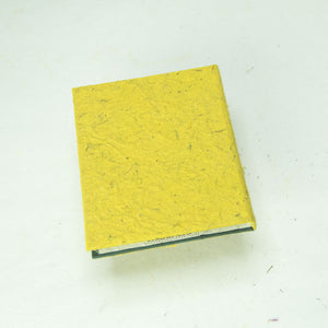 Eco-Friendly, Tree-Free POOPOOPAPER - Pile of Smile - Happy Face -  Yellow Mini-Journal - Back