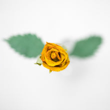 Load image into Gallery viewer, Single Yellow, Eco-Friendly, Sustainable POOPOOPAPER Rose - Close Up Top