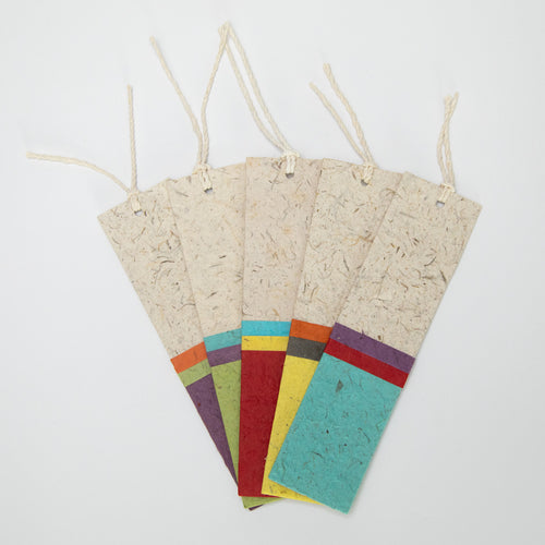 Classic Elephant POOPOOPAPER Striped Bookmarks - Set of 25