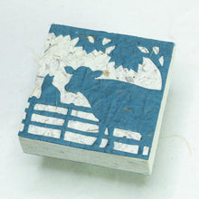 Load image into Gallery viewer, Cow POOPOOPAPER - Cow & Cat Blue Scratch Pad (Set of 3) - Front