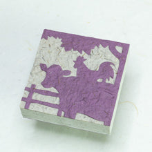 Load image into Gallery viewer, Cow & Rooster - Purple - Scratch Pad (Set of 3) - Cow POOPOOPAPER - front