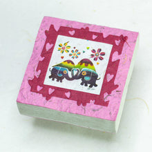 Load image into Gallery viewer, Artist Reproductions  - Thailand Themed - Elephant Sunrise Batik Scratch Pad - Pink (Set of 3)