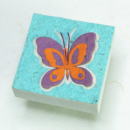 Butterfly Scratch Pad - Purple/ Orange on Turquoise (Set of 3)