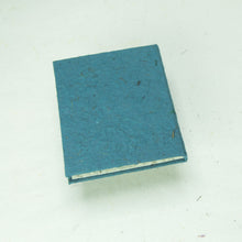 Load image into Gallery viewer, Eco-Friendly, Tree-Free POOPOOPAPER - Classic POOPOOPAPER - Mini-Journal - Blue - Set of 3 - Back