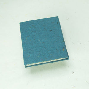 Eco-Friendly, Tree-Free POOPOOPAPER - Classic POOPOOPAPER - Mini-Journal - Blue - Set of 3 - Back