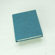 Load image into Gallery viewer, Eco-Friendly, Tree-Free POOPOOPAPER - Classic POOPOOPAPER - Mini-Journal - Blue - Set of 3 - Front