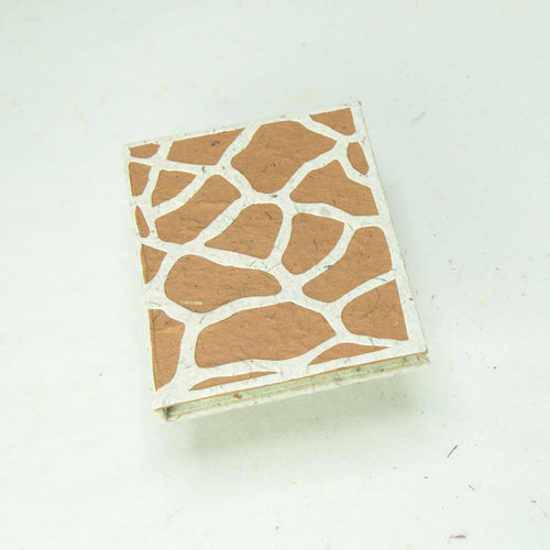 Eco-Friendly, Tree-Free POOPOOPAPER - Jungle Safari - Giraffe Mini Journal - Set of 3 - Front