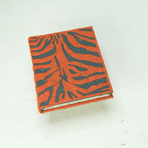 Eco-Friendly, Tree-Free POOPOOPAPER - Jungle Safari - Tiger Mini Journal - Set of 3 - Front