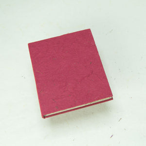 Eco-Friendly, Tree-Free POOPOOPAPER - Classic POOPOOPAPER - Mini-Journal - Burgundy - Set of 3 - Front