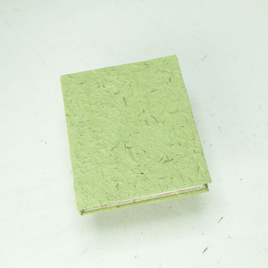 Eco-Friendly, Tree-Free POOPOOPAPER - Classic POOPOOPAPER - Mini-Journal - Grass - Set of 3 - Front