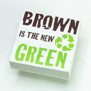 "Eco-Scratch Pad Elephant - ""BROWN IS THE NEW GREEN"" (Set of 3)"