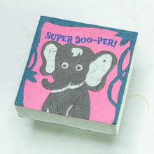 "Load image into Gallery viewer, POOPOOPAPER - Tiger ""SUPER DOO-PER!!"" Scratch Pad (Set of 3)"
