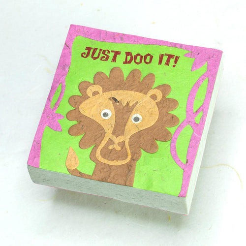 Eco-Friendly, Tree-free - Scratch Pad - Just Do It! - by POOPOOPAPER - Front
